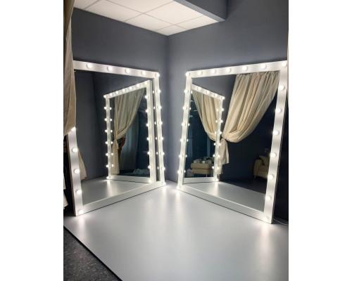 Гримерное зеркало с подсветкой 200х175