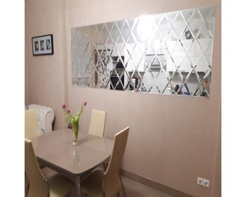 Зеркальное панно настенное на кухню