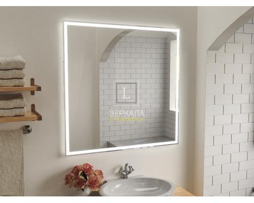 Зеркало в ванную комнату с подсветкой Люмиро Слим